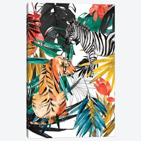 Jungle Life II Canvas Print #JGO1129} by Jennifer Goldberger Canvas Art
