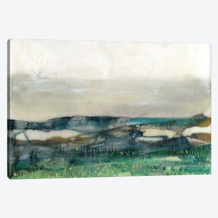 Aqua Hills I Canvas Print #JGO1156} by Jennifer Goldberger Canvas Wall Art