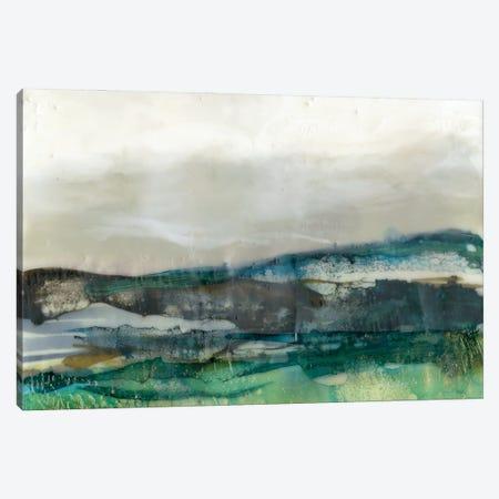 Aqua Hills II Canvas Print #JGO1157} by Jennifer Goldberger Canvas Wall Art