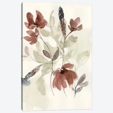 Dusty Flower Composition I Canvas Print #JGO1165} by Jennifer Goldberger Art Print