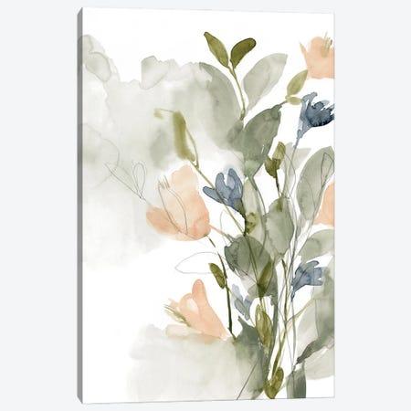 Flower Cluster II 3-Piece Canvas #JGO1174} by Jennifer Goldberger Canvas Wall Art