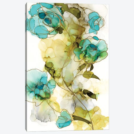 Flower Facets I 3-Piece Canvas #JGO1175} by Jennifer Goldberger Canvas Artwork