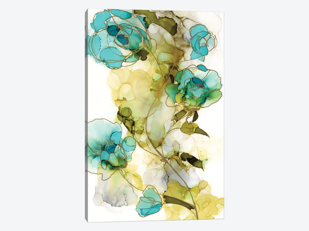 Flower Facets I by Jennifer Goldberger 1-piece Canvas Wall Art