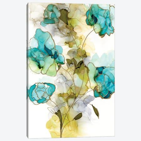 Flower Facets II 3-Piece Canvas #JGO1176} by Jennifer Goldberger Canvas Artwork
