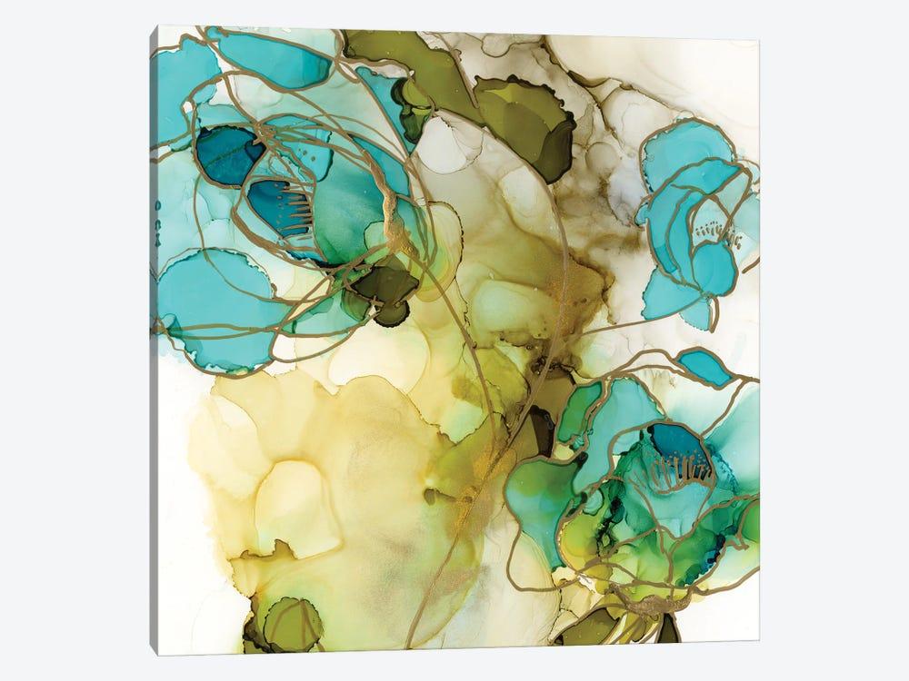 Flower Facets III by Jennifer Goldberger 1-piece Canvas Art