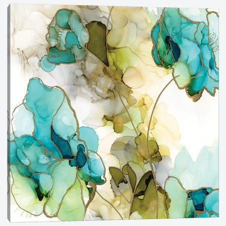 Flower Facets IV 3-Piece Canvas #JGO1178} by Jennifer Goldberger Canvas Art Print