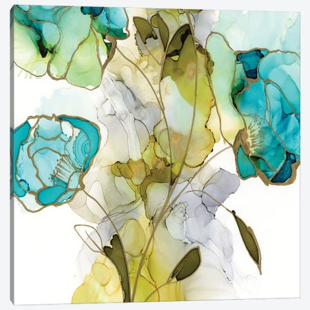 Flower Facets V 3-Piece Canvas #JGO1179} by Jennifer Goldberger Art Print