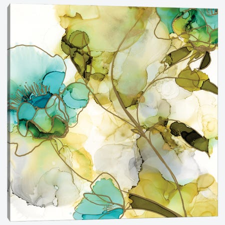Flower Facets VI 3-Piece Canvas #JGO1180} by Jennifer Goldberger Canvas Artwork