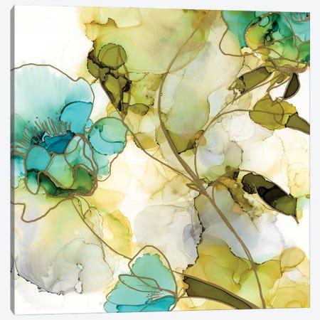 Flower Facets VI Canvas Print #JGO1180} by Jennifer Goldberger Canvas Artwork