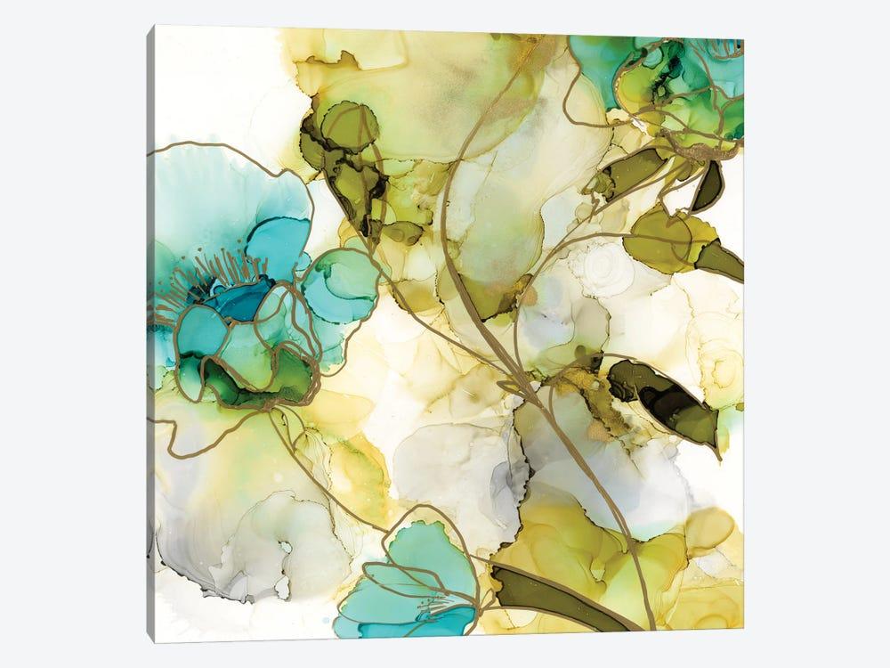 Flower Facets VI by Jennifer Goldberger 1-piece Canvas Wall Art