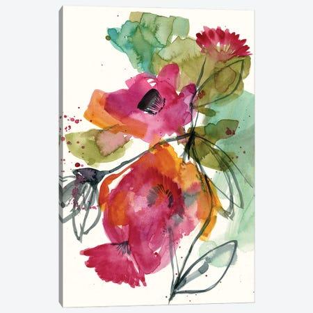 Flower Party I Canvas Print #JGO1181} by Jennifer Goldberger Canvas Art