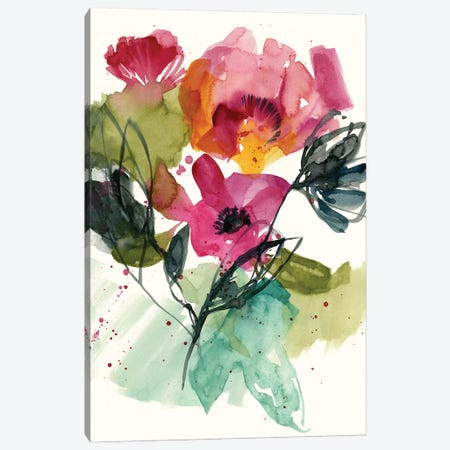 Flower Party II Canvas Print #JGO1182} by Jennifer Goldberger Canvas Artwork