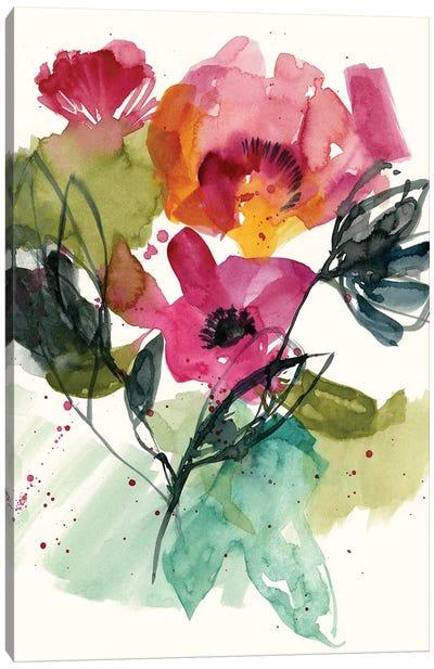 Flower Party II Canvas Art Print