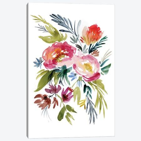 Jeweled Bouquet I Canvas Print #JGO1191} by Jennifer Goldberger Canvas Print