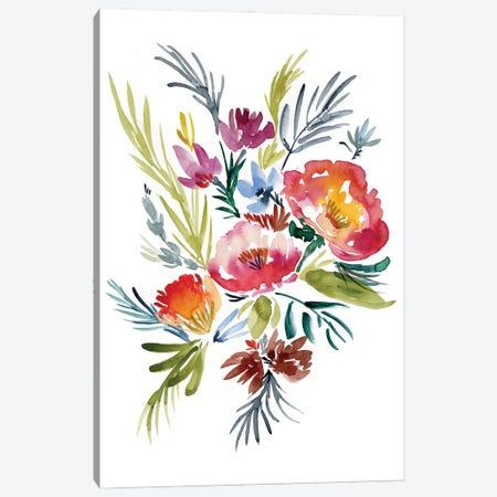 Jeweled Bouquet II Canvas Print #JGO1192} by Jennifer Goldberger Canvas Art Print