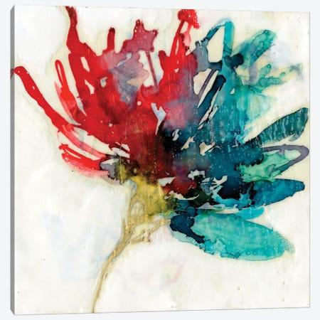 Splashed Flower I Canvas Print #JGO1209} by Jennifer Goldberger Canvas Art Print