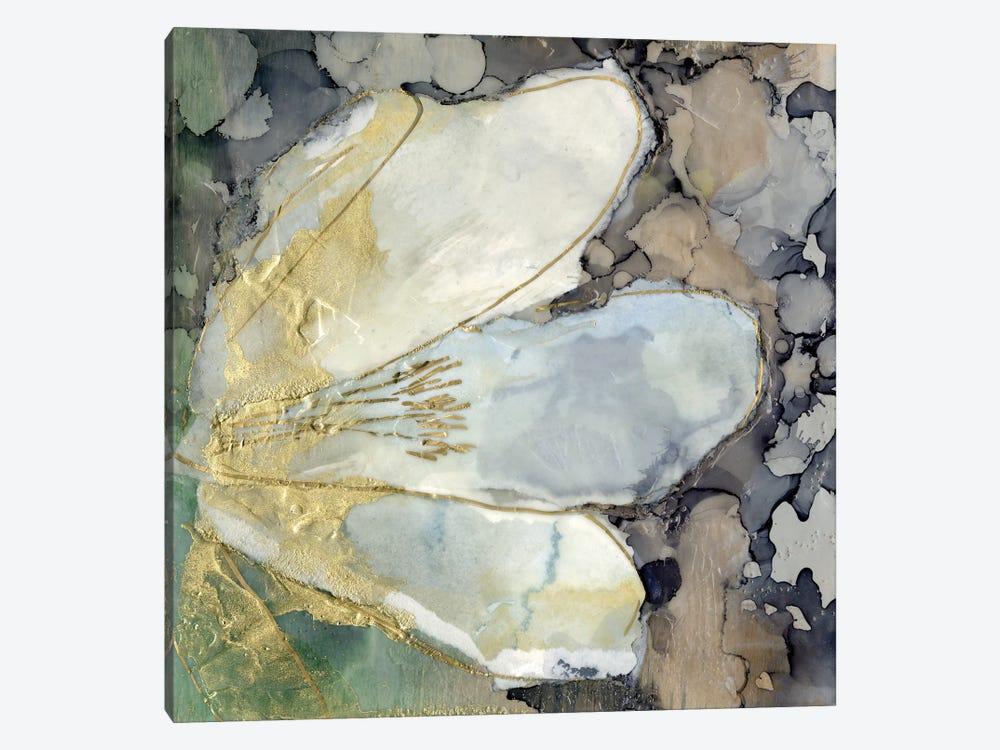 Abstracted Lily II by Jennifer Goldberger 1-piece Canvas Wall Art