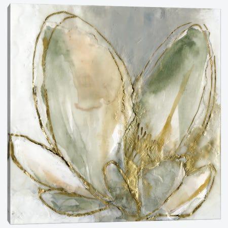 Blooming Gold I Canvas Print #JGO1221} by Jennifer Goldberger Canvas Print