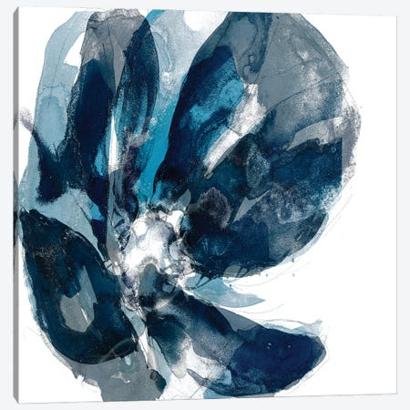 Blue Exclusion II Canvas Print #JGO1224} by Jennifer Goldberger Canvas Wall Art