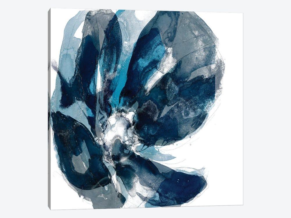 Blue Exclusion II by Jennifer Goldberger 1-piece Canvas Art