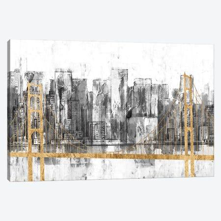 Golden Bridge Panorama Canvas Print #JGO1229} by Jennifer Goldberger Canvas Print