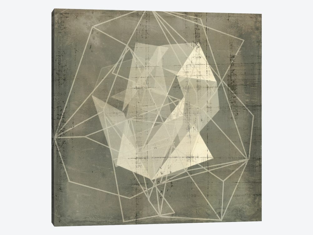 Geomolecule Blueprint II by Jennifer Goldberger 1-piece Canvas Art Print