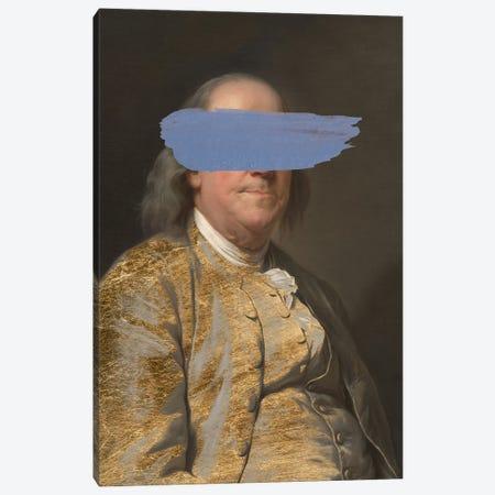 Masked Franklin Canvas Print #JGO1241} by Jennifer Goldberger Art Print