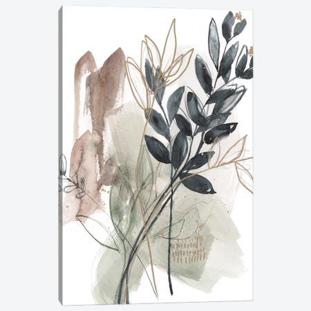 Bundled Leaves I Canvas Print #JGO1243} by Jennifer Goldberger Canvas Art Print