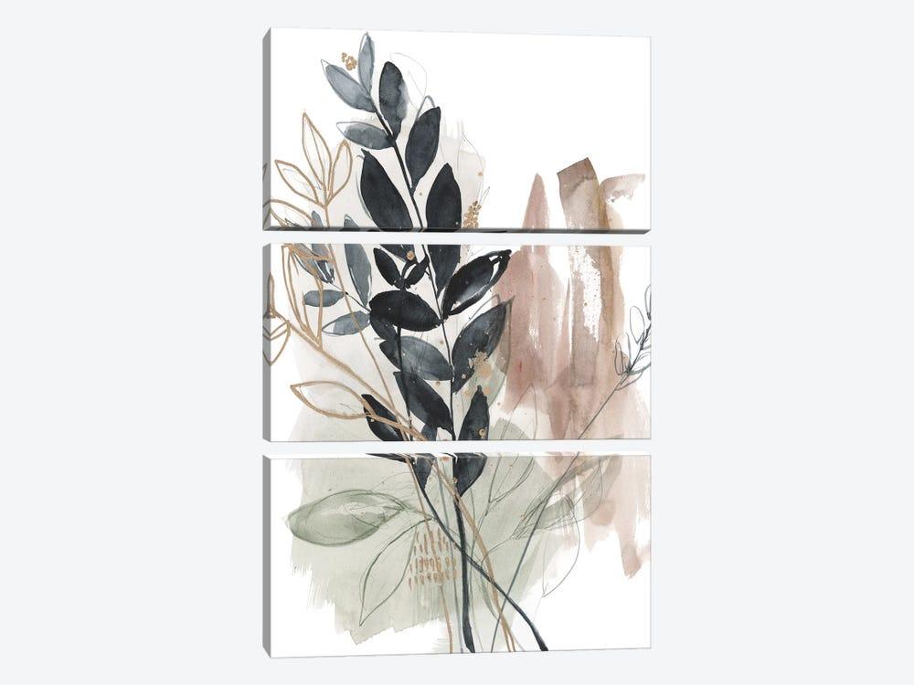 Bundled Leaves II by Jennifer Goldberger 3-piece Canvas Artwork