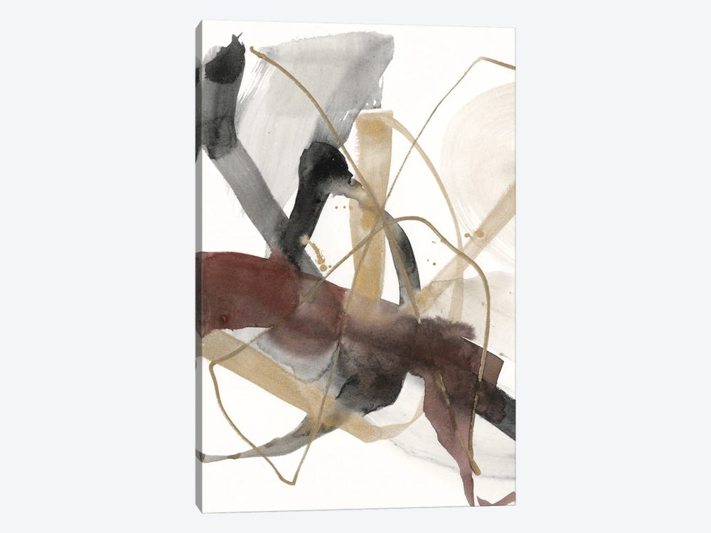 Burgundy Interjection I by Jennifer Goldberger 1-piece Art Print