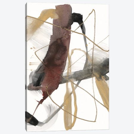 Burgundy Interjection II Canvas Print #JGO1246} by Jennifer Goldberger Canvas Wall Art