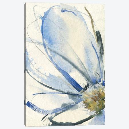 Cobalt & Paynes Petals I Canvas Print #JGO1247} by Jennifer Goldberger Canvas Artwork