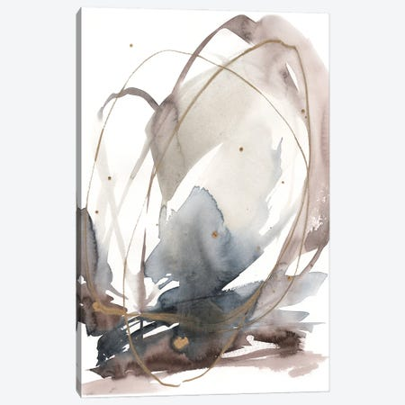 Inky Vortex I Canvas Print #JGO1253} by Jennifer Goldberger Canvas Wall Art