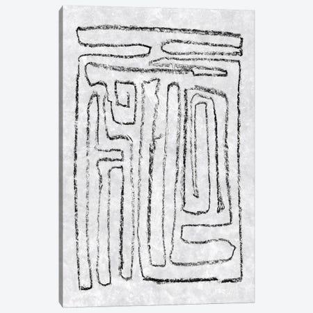 Black & White Runes I Canvas Print #JGO1257} by Jennifer Goldberger Art Print