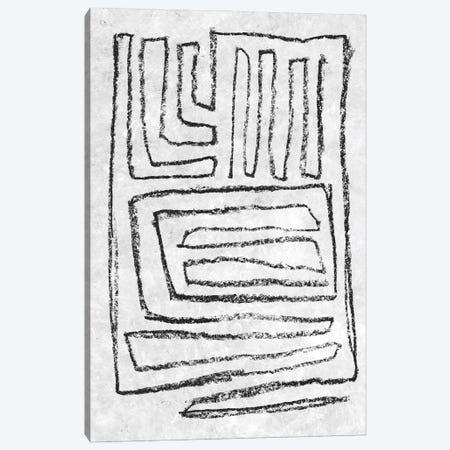 Black & White Runes II Canvas Print #JGO1258} by Jennifer Goldberger Canvas Wall Art
