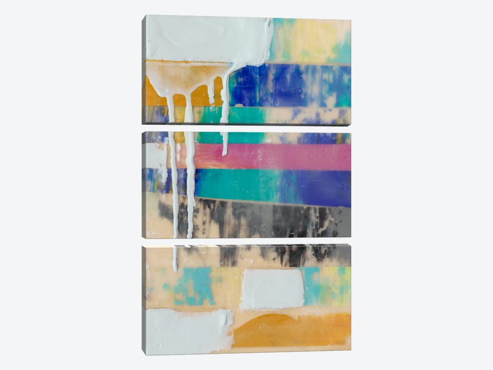 Vibrant Layers I by Jennifer Goldberger 3-piece Canvas Art Print