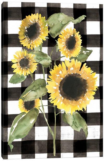 Buffalo Check Sunflower I Canvas Art Print