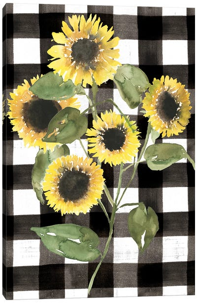 Buffalo Check Sunflower II Canvas Art Print