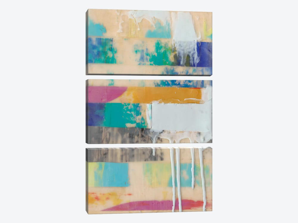 Vibrant Layers II by Jennifer Goldberger 3-piece Canvas Art