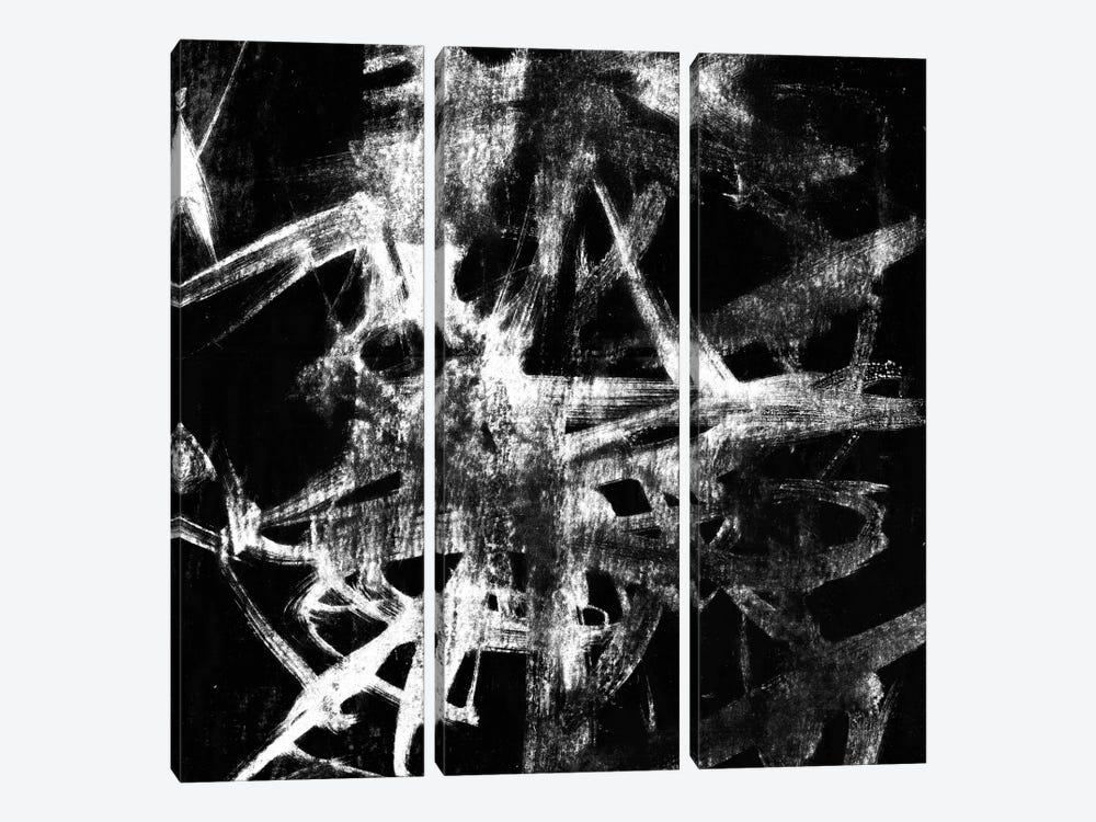 Monotype Scribble IV by Jennifer Goldberger 3-piece Canvas Wall Art