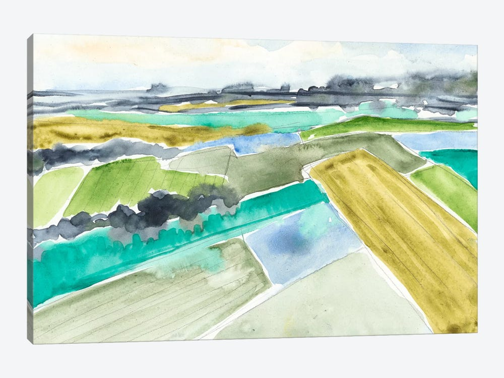 Watercolor Field I 1-piece Canvas Wall Art