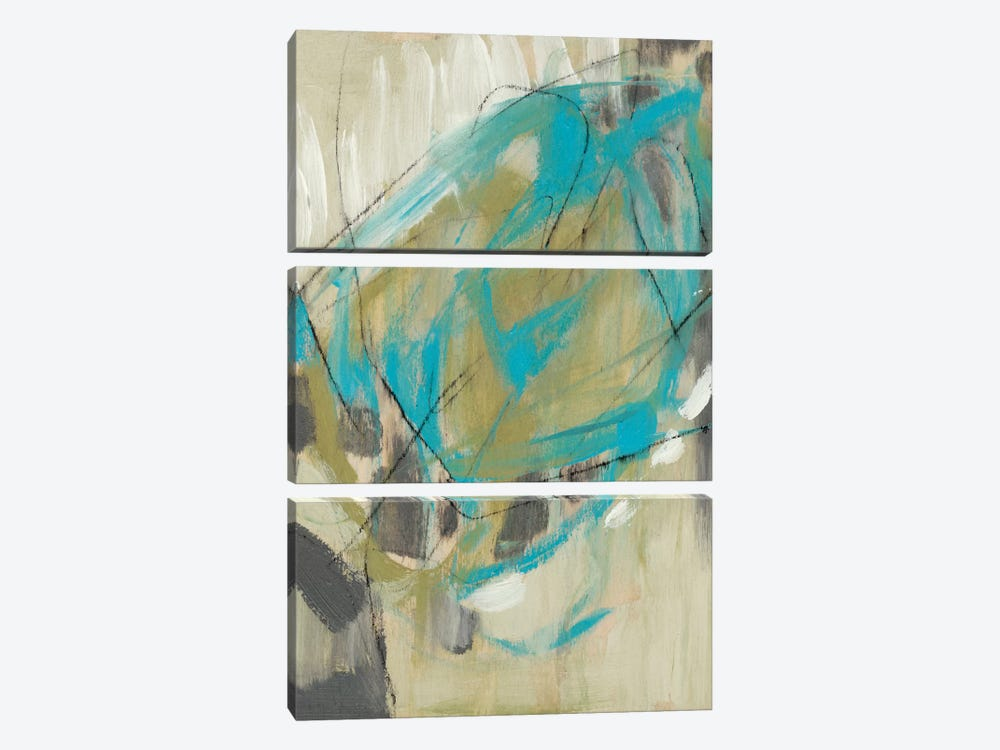 Whirling I by Jennifer Goldberger 3-piece Canvas Wall Art