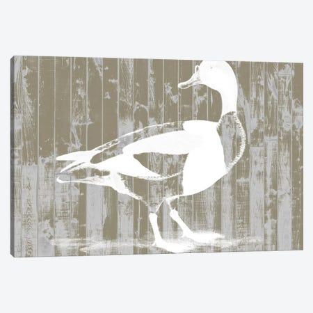 Woodgrain Fowl I Canvas Print #JGO136} by Jennifer Goldberger Canvas Artwork