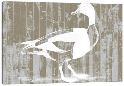 Woodgrain Fowl I Canvas Print #JGO136