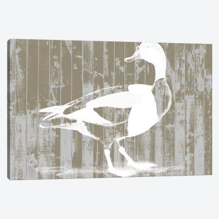Woodgrain Fowl I Canvas Print #JGO136} by Jennifer Goldberger Canvas Artwork
