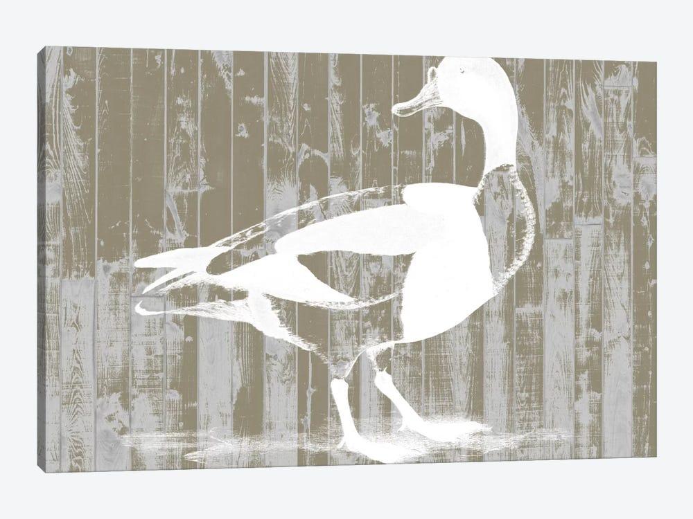 Woodgrain Fowl I by Jennifer Goldberger 1-piece Canvas Artwork