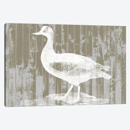 Woodgrain Fowl II Canvas Print #JGO137} by Jennifer Goldberger Canvas Wall Art