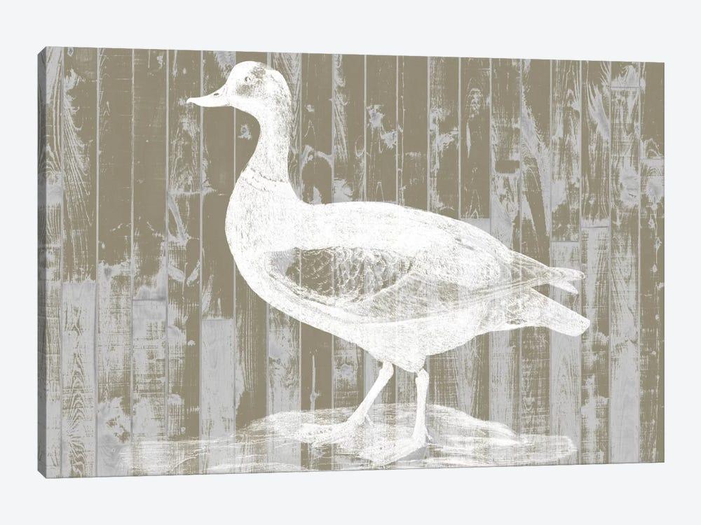 Woodgrain Fowl II by Jennifer Goldberger 1-piece Canvas Print
