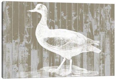 Woodgrain Fowl II Canvas Print #JGO137