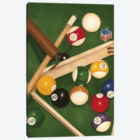 Rack 'em Up I Canvas Print #JGO13} by Jennifer Goldberger Art Print